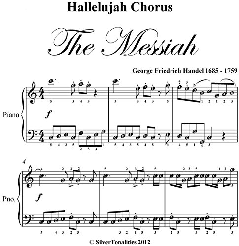 Hallelujah Chorus Handel Easy Elementary Piano Sheet Music (English Edition)