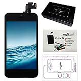 Trop Saint® Pantalla Negra para iPhone 5C - Kit de reparación LCD Completo - con Guía 5 lenguas, Superficie de Trabajo magnética y Herramientas