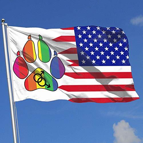 N / A Banderas De Jardín,Bandera De Origen,Bandera De Decoración De Jardín,Bandera Brisa,Banderas Al Aire Libre,Bandera Militar,3X5 Ft,Orgullo Peludo Gay
