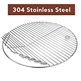 QuliMetal 19.5 Inch SUS 304 Round Cooking Grate Cooking Grid for Akorn Kamado Ceramic Grill, Pit Boss K24,...