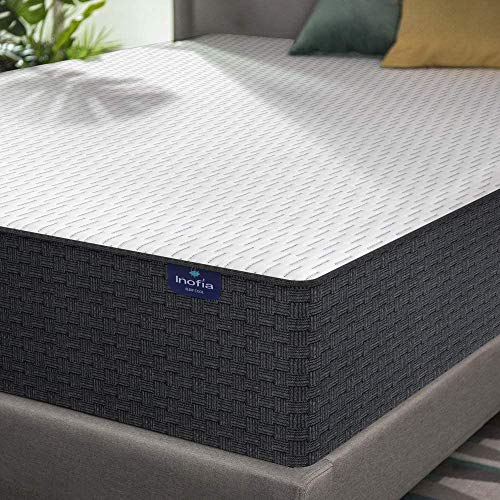 Queen Mattress, Inofia 10 Inch High Resilience Foam Queen Mattress in a Box, More Breathable & Supportive Than Memory Foam, Pressure Relief & Cooler Sleeping, Medium Firm Feel, 100-Night Trial