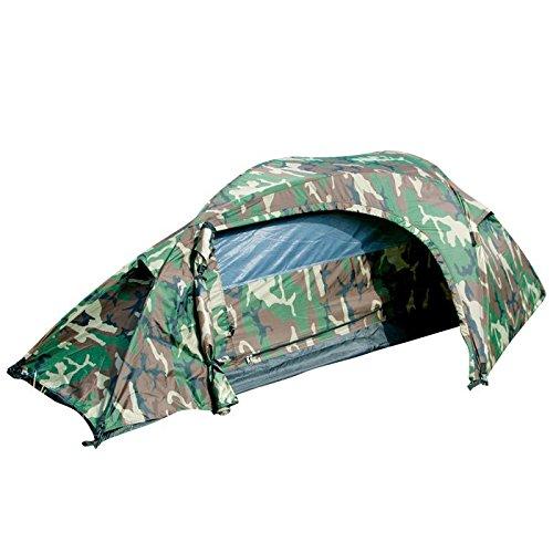 g8ds® BW 'RECOM' EIN-Mann-Zelt in Einer kompakten, Wind und sturmsicheren Form Woodland Festival Camping Outdoor (Woodland)