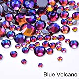NDKC 42 Colori Mix Formati Ss6-Ss30 Better Cтразы Hotfix Strass Crystal Hot Fix Gemma Iron On Strass per Tessuto Decorazione F0050, Blue Volcano, Mix Sizes 1000Pcs