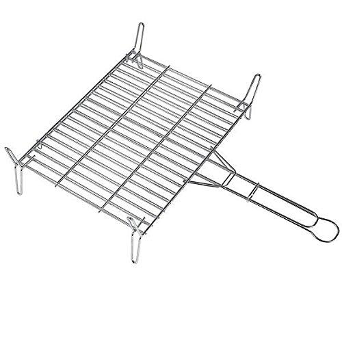 Algon AA97 - Parrilla doble cincada, 40 cm x 40 cm, color gris metalizado