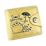 WANHONGYUE My Neighbor Totoro Anime Cartera de Cuero Artificial Monedero Tríptico Billetera Clásico Portatarjetas para Hombre /2