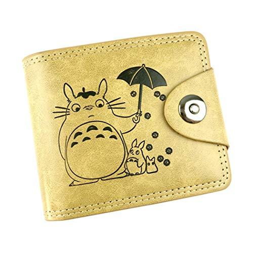 WANHONGYUE My Neighbor Totoro Anime Klassisch Kunstleder Trifold Geldbörse Geldbeutel Portemonnaie Portmonee Brieftasche /2