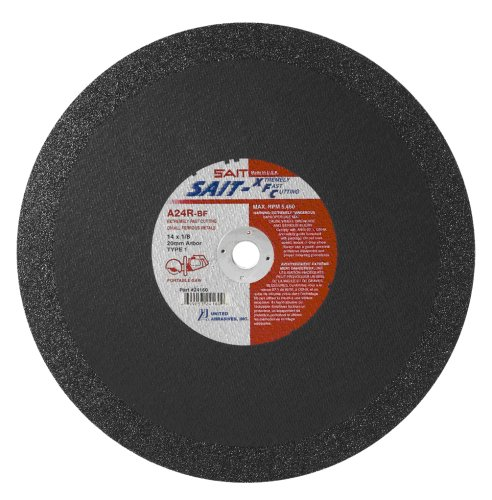United Abrasives- SAIT 24160 14-Inch x 1/8-Inch x 20mm 5460 Max RPM Type 1 XFC - Extremely Fast Cut-Off Portable Saw Cut-Off Wheel, 10-Pack