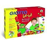 Giotto be-bè 465900 - Máquina extrusora de súper pasta para jugar con 4 moldes, 3 accesorios y 5 botes de paste de 100 g, colores surtidos