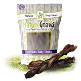 Nature Gnaws Monster Braided Bully Sticks 12' (3 Count) - 100% Natural...