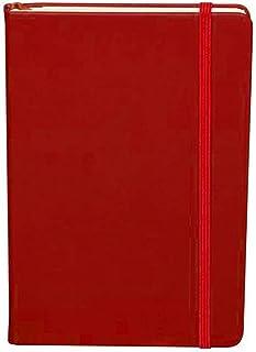 Ofidosel Libreta Clásica con Cubierta y Pasta Dura de Piel PU con Banda Elástica. 96 Hojas de Raya Con Porta Documentos. Disponible en Negro Azul y Rojo. Excelente Cuaderno para Universidad, Oficina y Hogar. Medidas: 14.2 X 21.2 X 1.6 cms (Rojo)