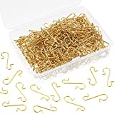 Tatuo Xmas Ornament Hooks Metal Wire Hooks Ornament Hangers with Storage Box for Christmas Tree Decoration(201, Gold, Silver, Red and Green)