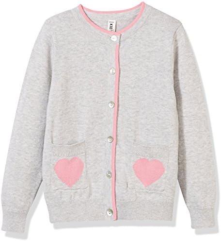 Kid Nation Girls Lovely Long Sleeve Pocket Cardigan Sweater L Grey product image
