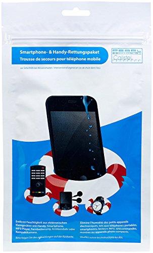 PEARL Smartphone-Entfeuchter: Tablet- und Smartphone-Rettungspaket zur Soforthilfe bei Wasserschaden (Smartphone Rettung)