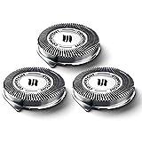 3 cabezales de repuesto para afeitadora Philips Norelco 3000 Series 1000 2000...
