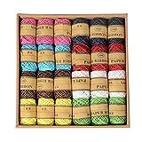 Colorido com 20 rolos de corda de juta trançada da Vosarea com corda, faça você mesmo, corda, etiqueta, corda, decoração de presente com caixa