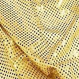 Gold Sequins Dress Fabric - per metre by Prestige Fashion UK Ltd