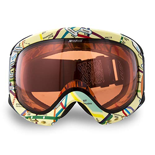 WZ YDTH Skibril, dubbele anti-condens, verkleuring, skibril, outdoor-klimmen, spiegel, enkele en dubbele plank