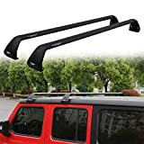 SnailAuto Black Luggage Roof Rack Fit for 2007-2018 Jeep Wrangler JK & 2018 2019 2020 2021 Jeep Wrangler JL Unlimited 2&4DOOR Cross Bars