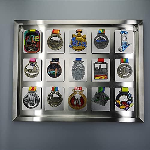 ABCSS Estante de exhibición de medallas,Expositor de medallas,Marco de Almacenamiento de medallas Deportivas de Acero Inoxidable 304,Utilizado para la colección de medallas e Insignias de Honor
