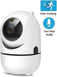 Cámara IP HD WiFi Inalámbrico Seguimiento Automático Inteligente del Monitor de Cámara de Red de Vigilancia de Seguridad Humana 138 * 128 * 94mm 1080P con 64GB