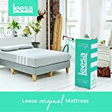 Leesa 10' Memory Foam Mattress in a Box, Luxury CertiPUR-US Certified 3 Layer Foam Construction, Queen, Gray & White
