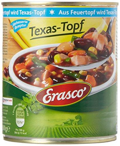 Erasco Aus Feuertopf Texas Topf , 3er Pack (3 x 800 g Dose)