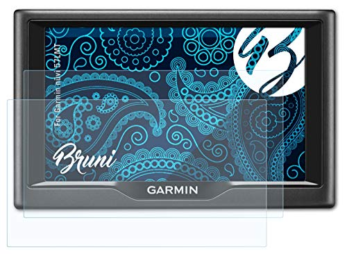 Bruni Schutzfolie kompatibel mit Garmin nüvi 57LMT Folie, glasklare Displayschutzfolie (2X)
