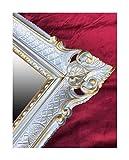 Lnxp Specchio da parete in argento – oro dualColor 90 x 70 cm antico barocco Rokoko Shabby Chic Renaissance, stile giovanile, design retrò con decorazioni di lusso