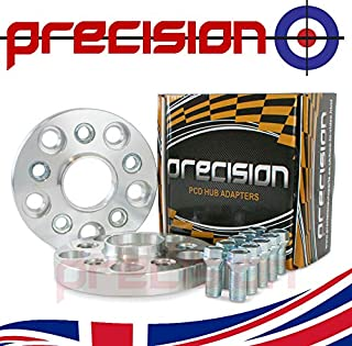 Staggered Black Wheel Spacers 15mm//20mm with Bolts and Locks for Genuine /Àudi A7 Alloys PN.SFP-PSP17B119