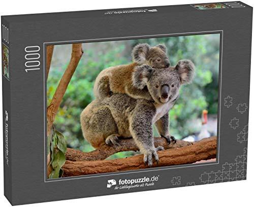 Puzzle 1000 Teile Mutter Koala mit Baby auf dem Rücken, auf Eukalyptusbaum - Klassische Puzzle, 1000/200/2000 Teile, in edler Motiv-Schachtel, Fotopuzzle-Kollektion 'Tiere'