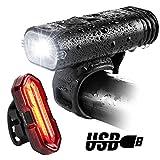 Bike Lights, BYBLIGHT USB Rechargeable LED Bicycle Torch Light Set, 350 Lumen Front