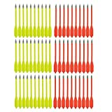SPEED TRACK 60PCS Red and Yellow 6.25 Inch 50-80LB Mini Archery Crossbow Bolts Set with Sharp Metal Tip, Reusable Durable Arrow Darts For Shooting Target Practice, Small Hunting Games, Outdoor Fishing