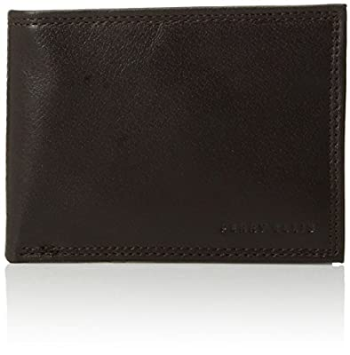 Perry Ellis Men's Perry Ellis Portfolio RFID Blocking Passcase Wallet, Brown, One Size