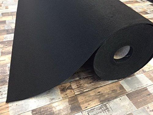 Autoteppich zur Auskleidung, Meterware in beliebiger Größe - Qualität Hit schwarz (2,5m x 2m Breite)