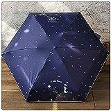 WYZQ Paraguas de Viaje Plegable Paraguas de Dibujos Animados | Paraguas Plegable Compacto para Exteriores | Sombrilla soleada Femenina para Viajes, Escuela, Vida Diaria (Estilo 1), sombrillas