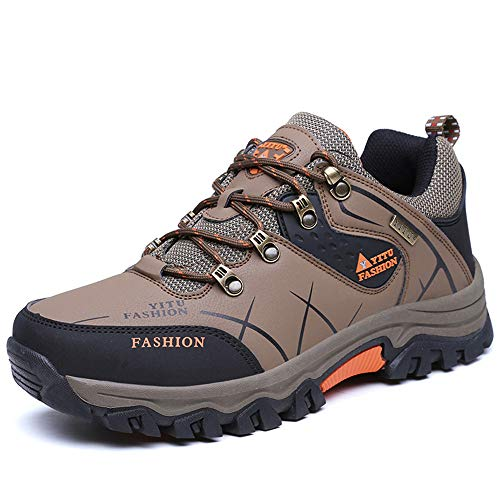 Chaussures de Randonnée Outdoor pour Hommes Femmes Basses Trekking et Les Promenades Sneakers Verte Bleu Noir 36-48 Kaki 42