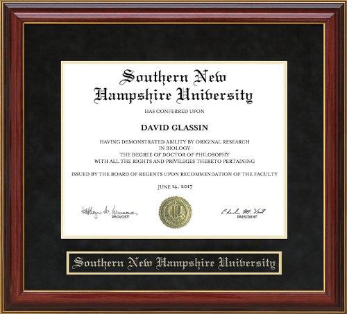 Wordyisms Southern New Hampshire University (SNHU) Mahogany Diploma Frame