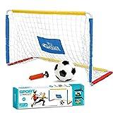 Suppemie Mini portería de fútbol para niños, kit de red portátil para casas, playas, parques o jardines