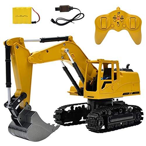 Toy 1:24 2.4G Wireless Remote Vontrol Excavator Eight Channel Alloy Excavator Children Charging Remote Control Car Toy,LiQingShangMao
