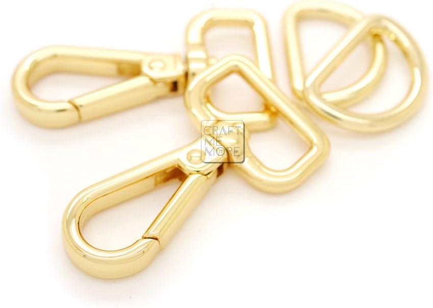 - Gold Metal Swivel Snap Hook 30mm 1 14 Bag Making Supplies 1 PCS
