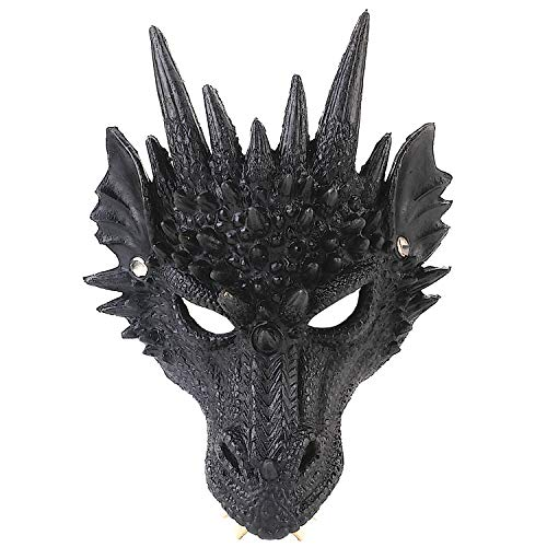 Halloween Mask, Coxeer Party Mask Halloween Costume Mask 3D Dragon Cosplay Mask Party Costume Mask for Mardi Gras