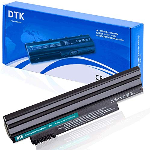 Dtk® Batterie Haute Performance pour Ordinateur Portable Acer Aspire One D255 D257 D260 522 722 Al10a31 Al10b31 Al10bw Al10g31 BT.00603.121 LC.btp00 [11.1V 4400MAH 6CELLS ]