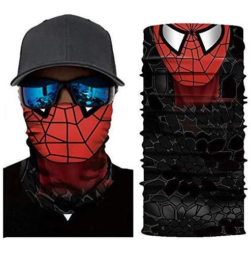 Dailygocn Super Hero Bandanas Face Mask Motorcycle Scarf Headwear Halloween Cosplay Mask