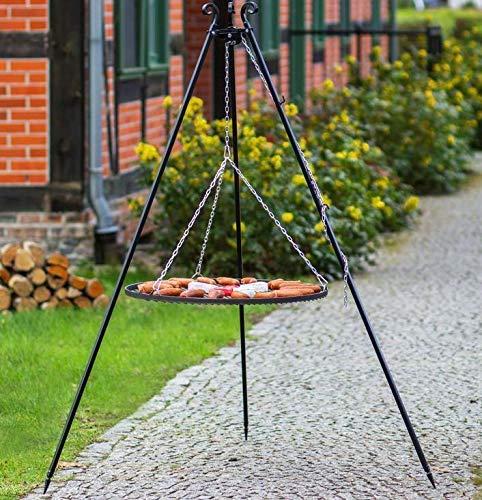 BlackOrange Barbecue suspendu XL de 180 cm de haut, grille de cuisson XL de Ø 80 cm
