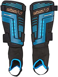 erima Shinguards Bionic Strap 2.0, Black / Blue, XL, 721501