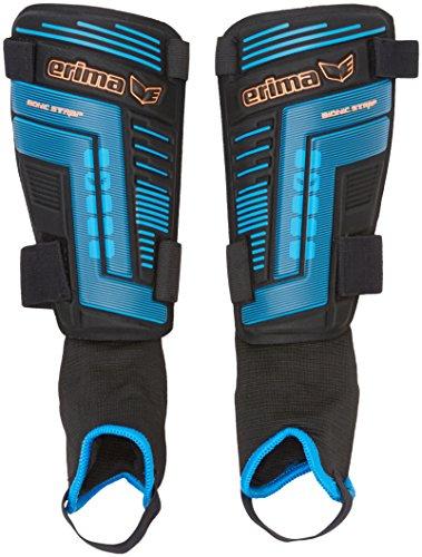 erima Schienbeinschoner Bionic Strap 2.0, Schwarz/Blau, XL, 721501