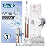 Oral-B Genius 10000N Sensi Ultrathin - Cepillo Eléctrico, 1 Oro Rosa Mango Conectado, 6 Modos Blanqueado, Sensible, Encías, 4 Cabezales, Funda de Viaje con Puerto USB