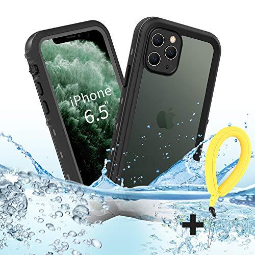 BDIG Funda iPhone 11 Pro MAX Impermeable, [Anti-rasguños][Protección de 360 Grados],Case Protectora con Protector de Pantalla Incorporado para iPhone 11 Pro MAX Case 6.5 Inch 2019 (Negro)
