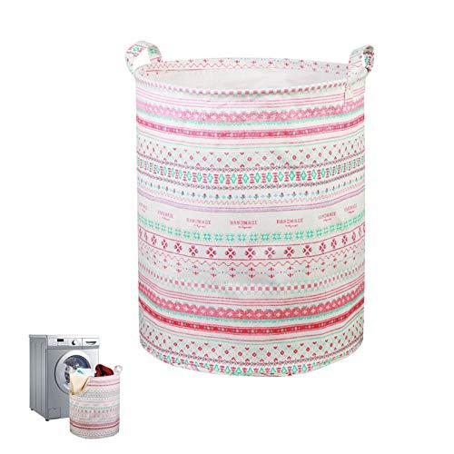 KAKOO cestos para la Colada Impermeable Cubo Plegable de Ropa Sucia de Boho Guardar los Juguetes en habitación o baño