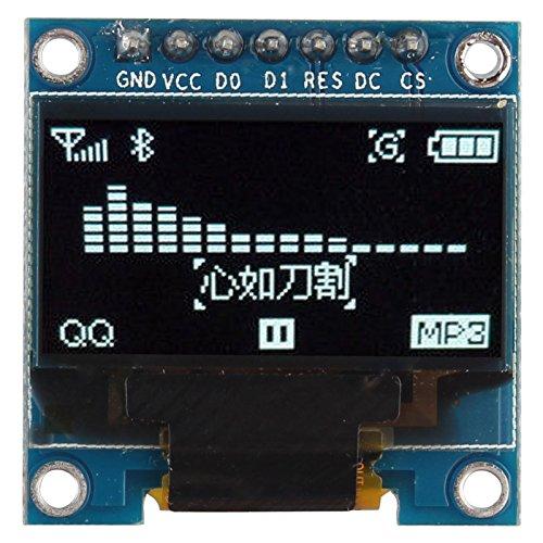 Preisvergleich Produktbild HALJIA 2, 44 cm (0, 96 Zoll) weißes SPI I2C IIC OLED serielles 128 x 64 LCD-LED-Displaymodul,  SSD1306 Treiber IC DC 3, 3 V 5 V Kompatibel mit Arduino C51,  STM32,  STM8,  MSP430 PIC